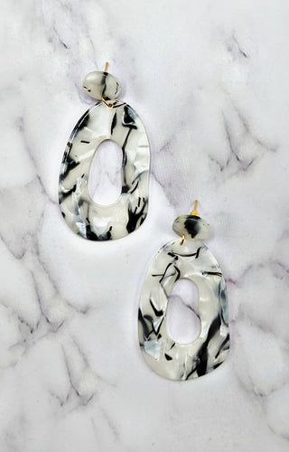 All Around You Earrings - White/Black