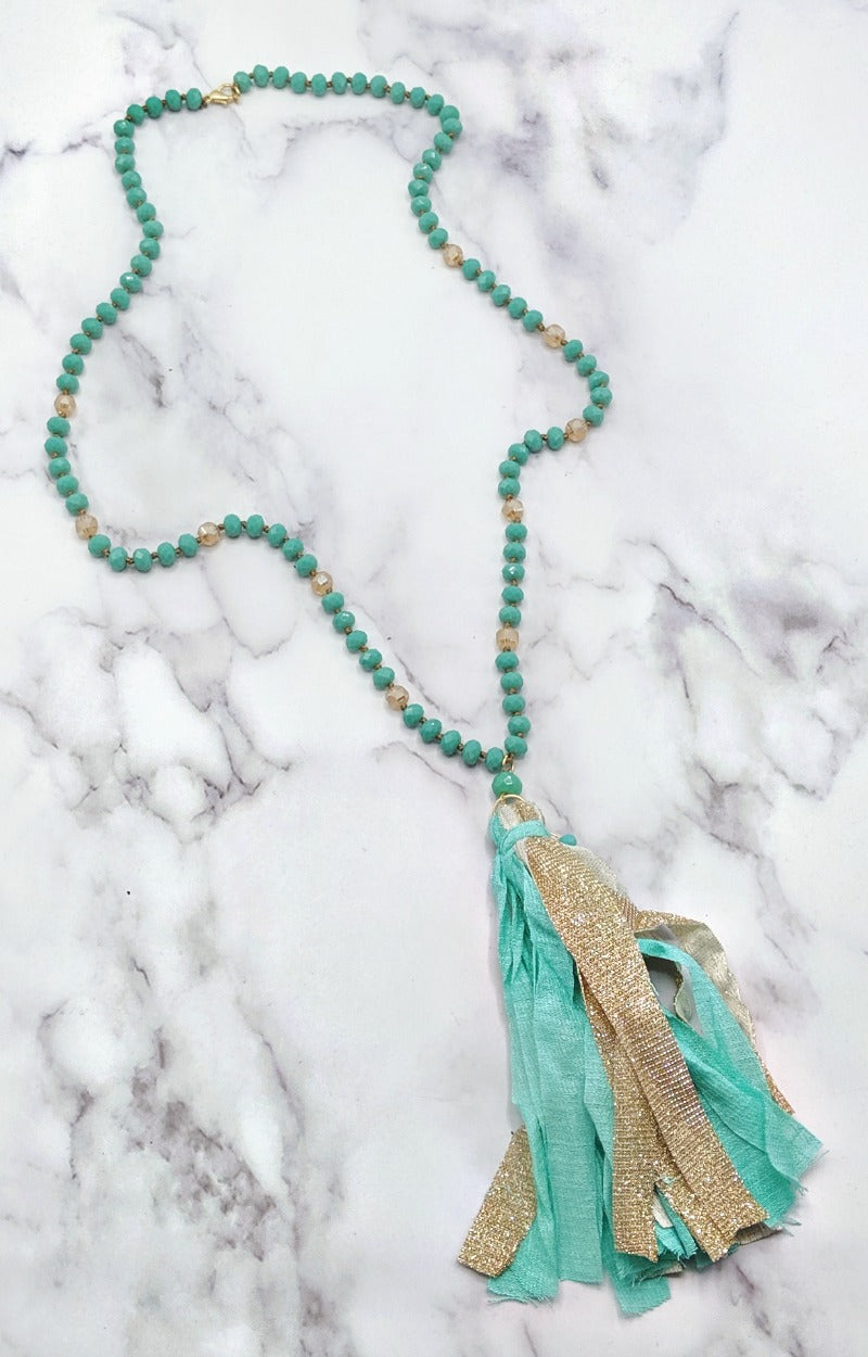 Load image into Gallery viewer, Back At It Necklace - Mint