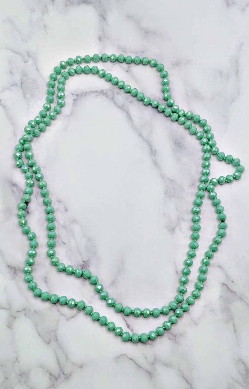 Load image into Gallery viewer, The Essential Double Wrap Necklace - Mint