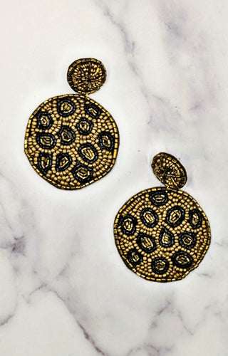 Feeling Routine Earrings - Gold/Black