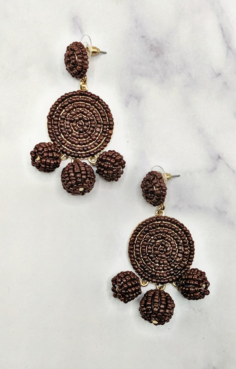 In Any Event Earrings - Brown