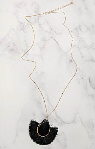 All In Favor Necklace - Black