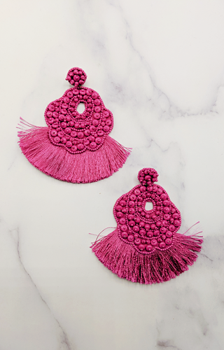 Couldn't Be Better Earrings - Fuchsia