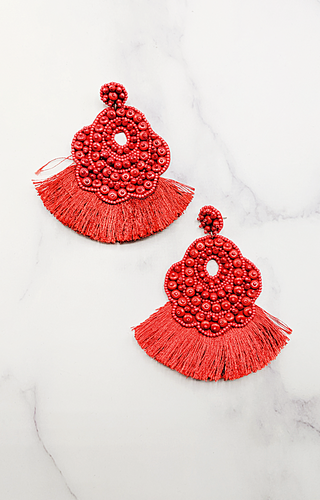 Couldn't Be Better Earrings - Red