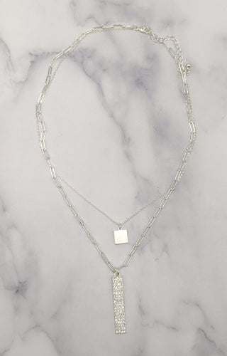 Never Really Over Necklace - Silver