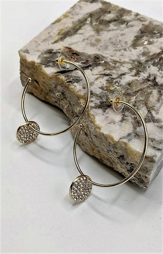 Stop You There Hoop Earrings - Gold