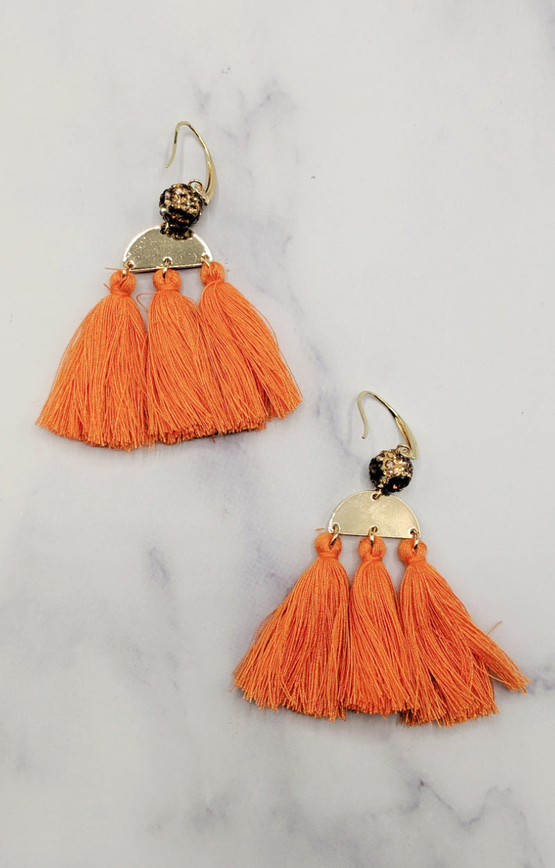 On Easy Street Earrings - Orange