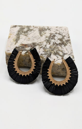 Unique Taste Earrings - Black