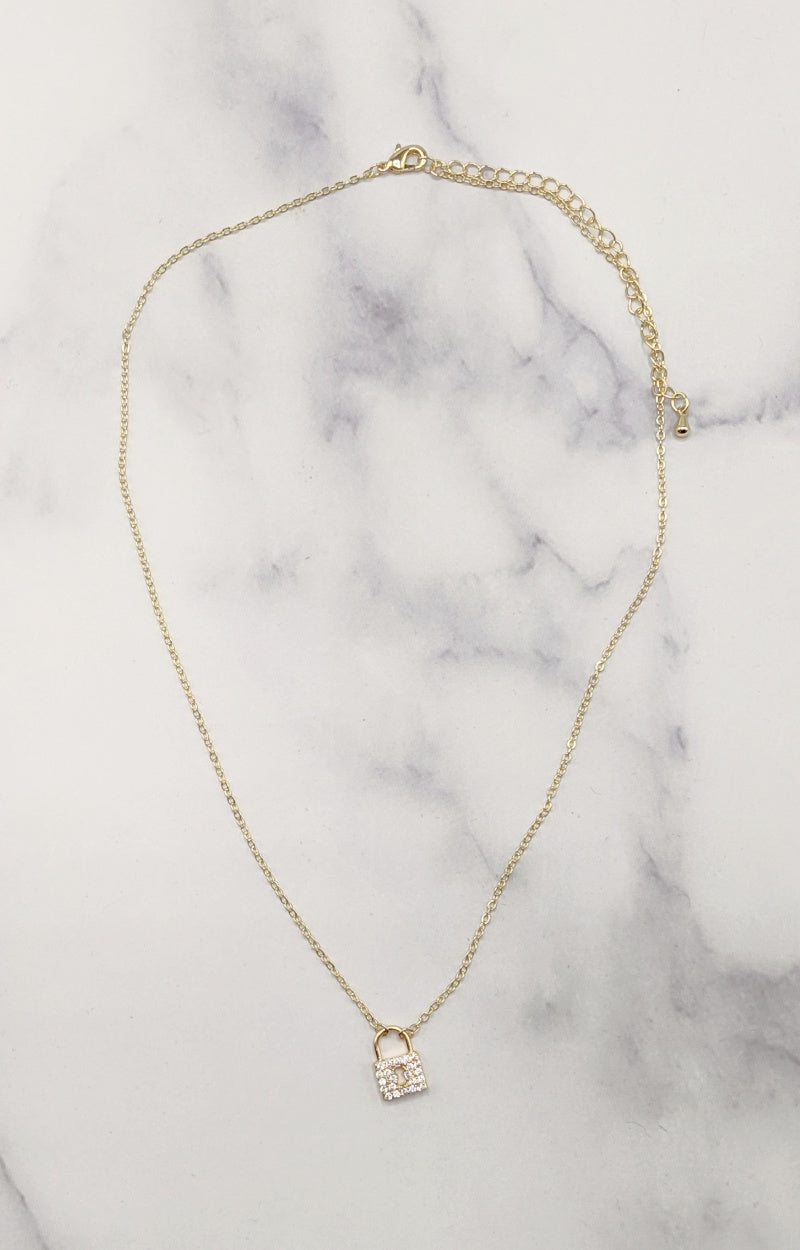 All Locked Up Necklace - Gold