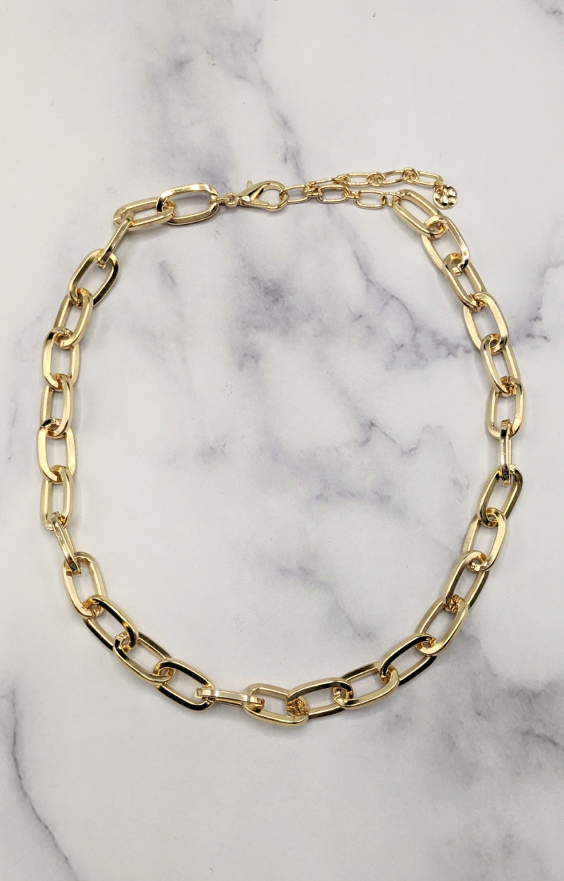Load image into Gallery viewer, Chained To This Feeling Necklace - Gold