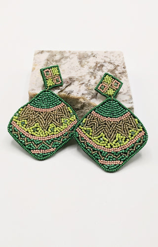 Where The Wind Blows Earrings - Green