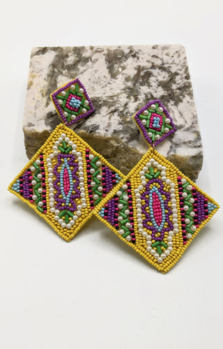 Baby One More Time Earrings - Yellow Multi