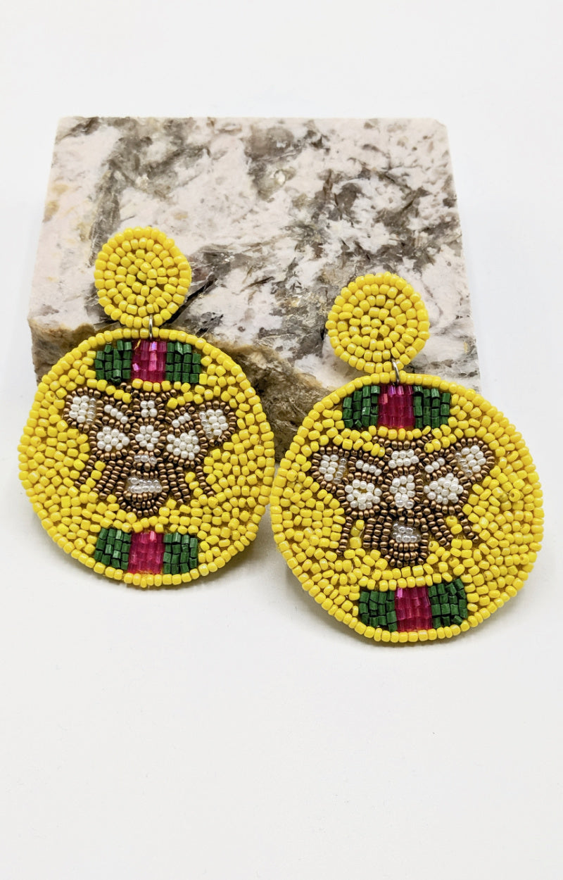 Load image into Gallery viewer, I'll Bee Your Girl Earrings - Yellow
