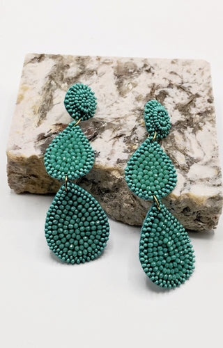 Clever Connection Earrings - Turquoise