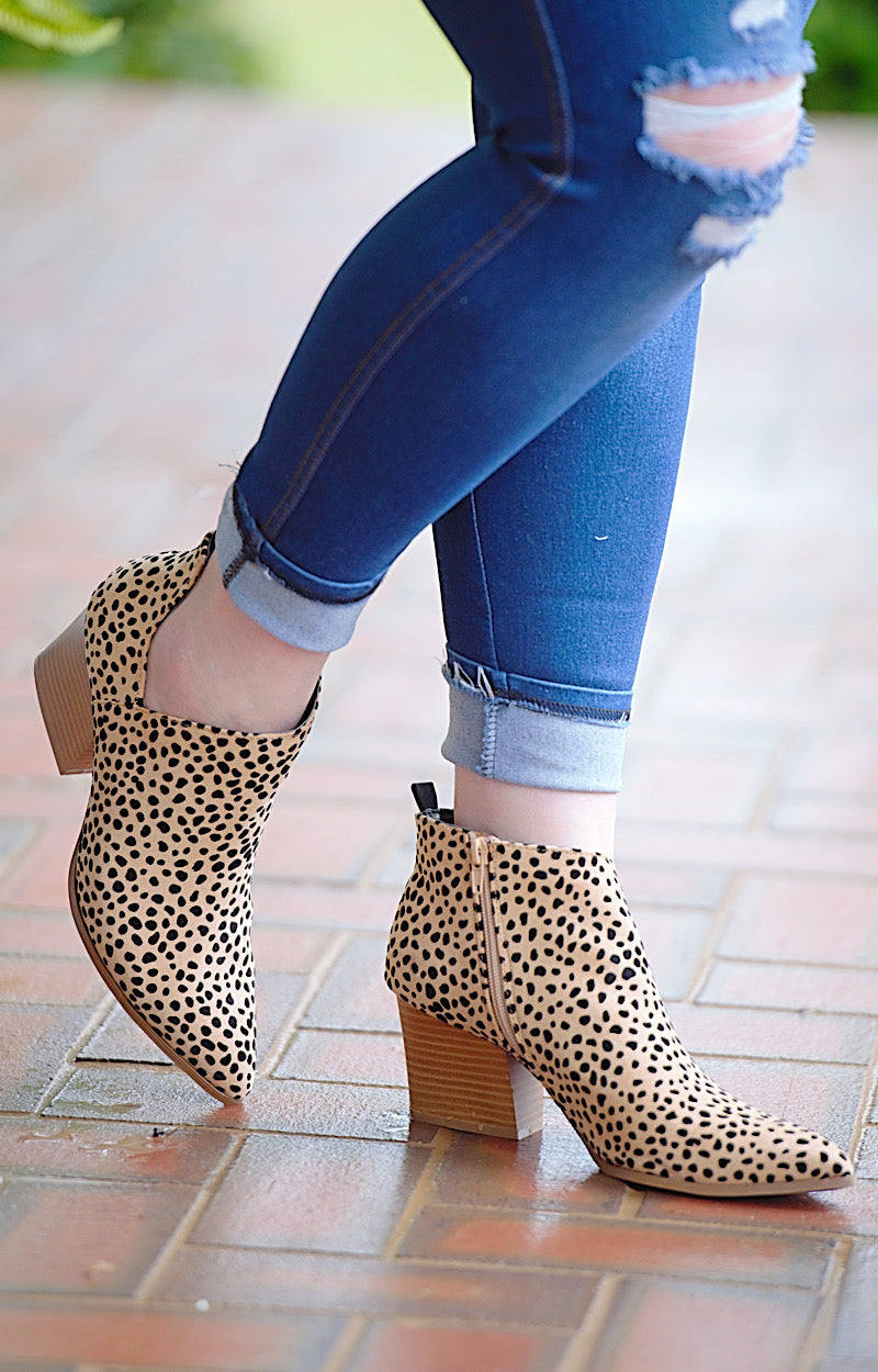 Every Little Step Leopard Print Booties