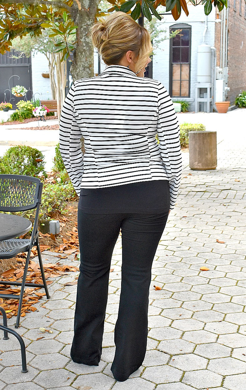 Load image into Gallery viewer, You Got It Girl Striped Blazer - Ivory/Black