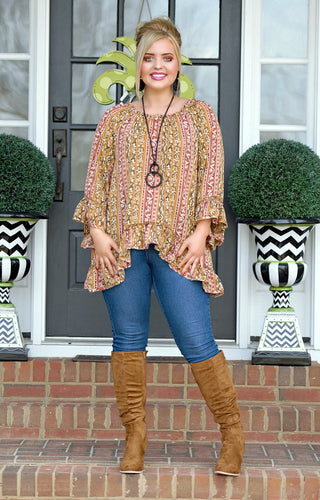 Beautiful Visions Print Top - Multi