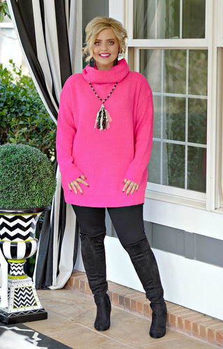No Bad Days Sweater - Fuchsia