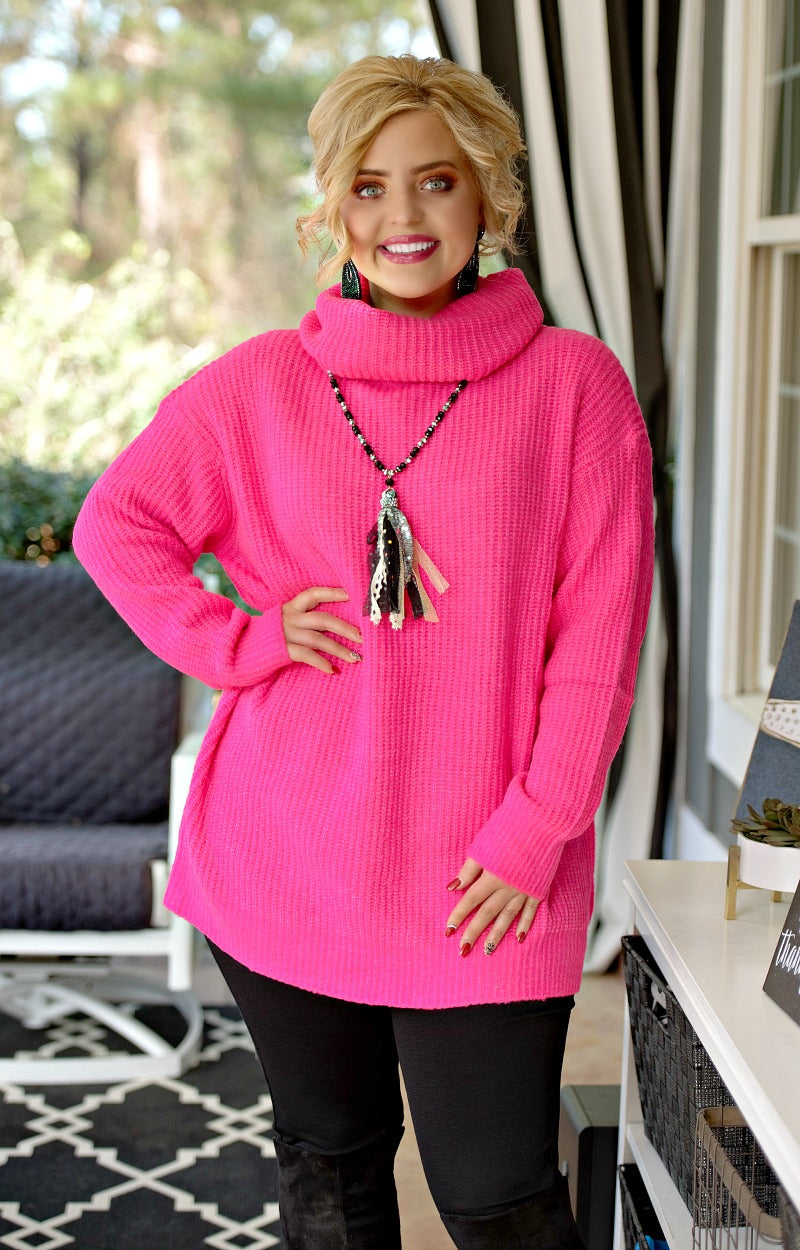 Load image into Gallery viewer, No Bad Days Sweater - Fuchsia