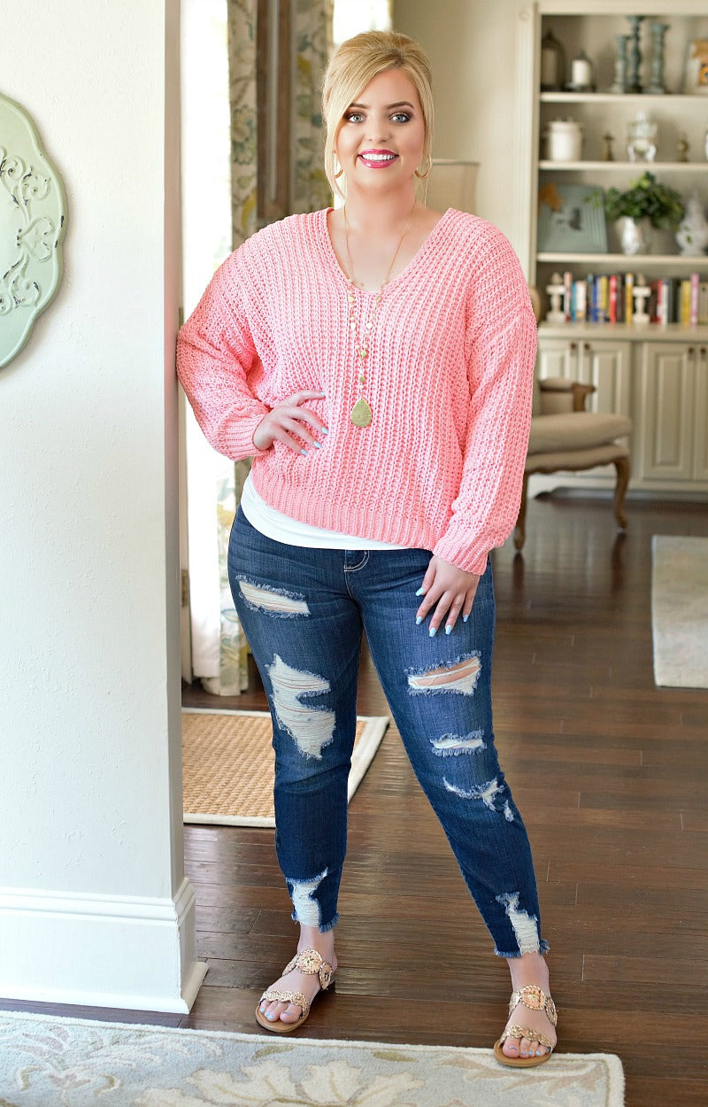Load image into Gallery viewer, Anything's Possible Sweater - Pink