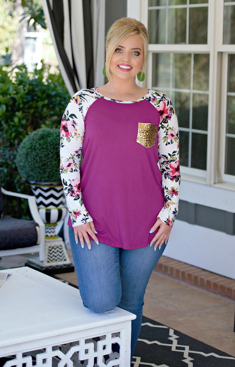 Plus Sized Floral Top