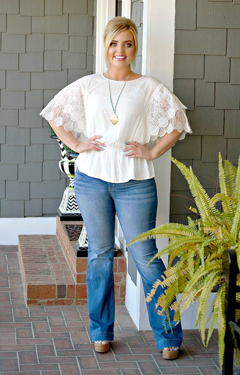 Load image into Gallery viewer, Sweet Intentions Lace Top - White