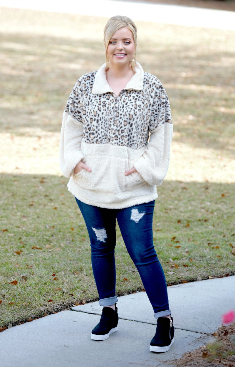 Load image into Gallery viewer, Wanna Bet Leopard Print Pullover - Cream
