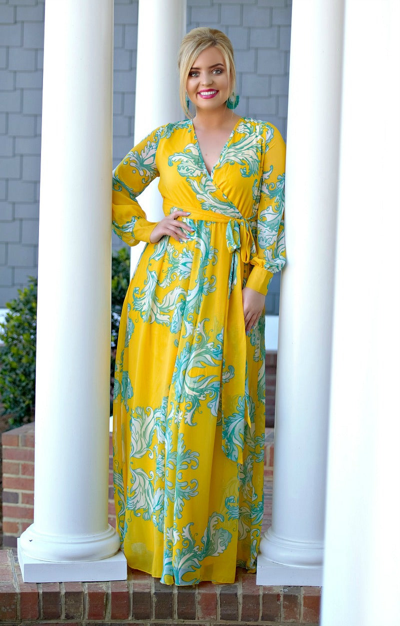 Load image into Gallery viewer, Looking Perfect Floral Maxi Dress - Yellow