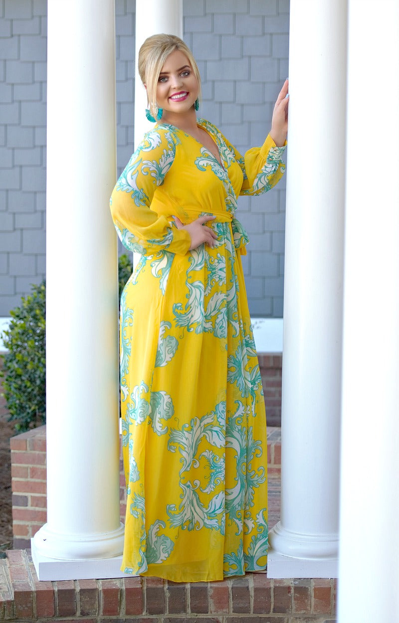 Looking Perfect Floral Maxi Dress - Yellow