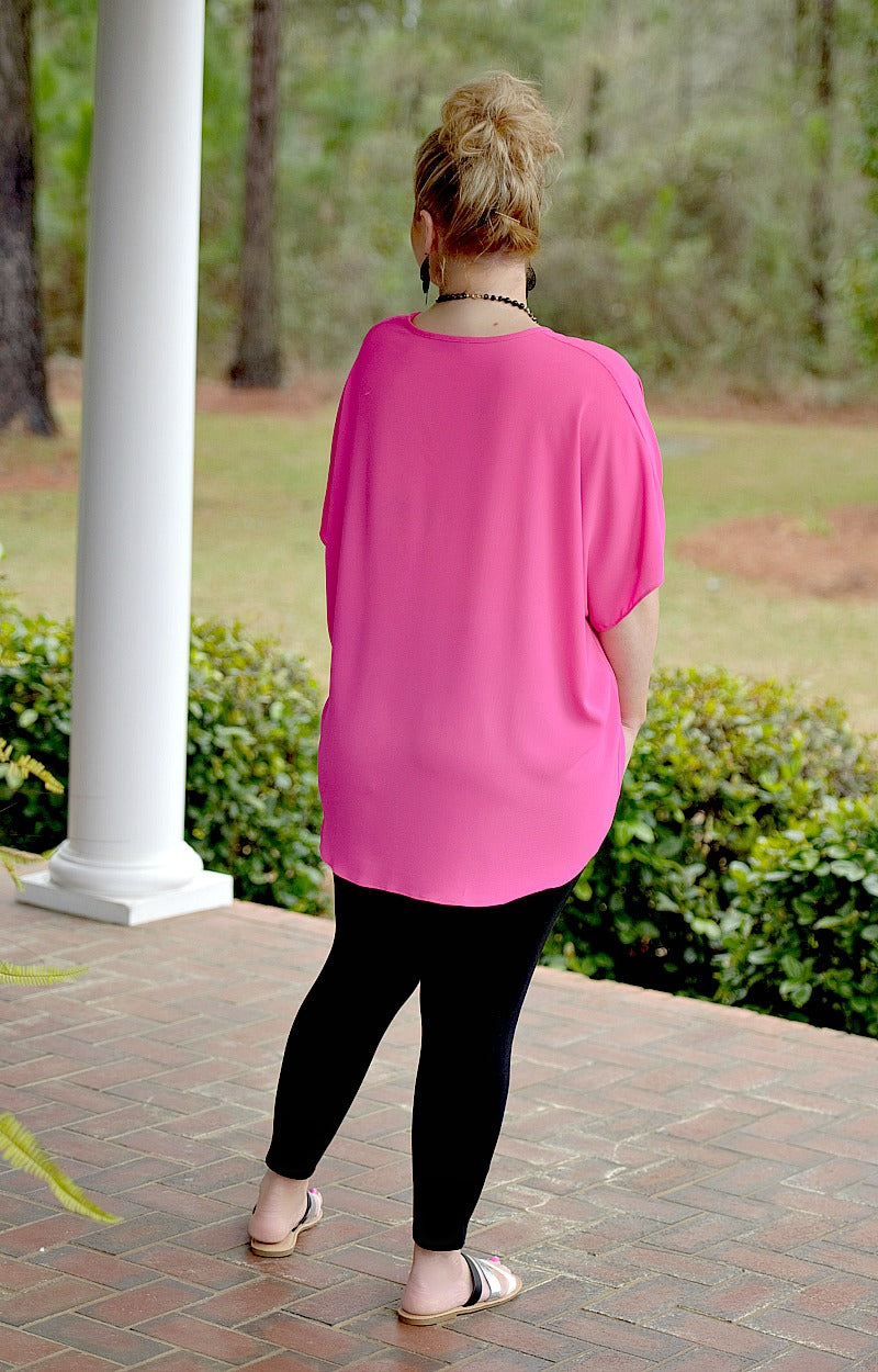 Load image into Gallery viewer, I'm Impressed Oversized Top - Hot Pink