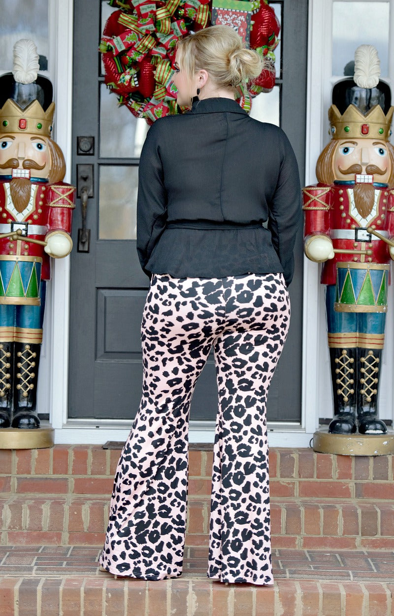 Finders Keepers Leopard Print Pants - Pink
