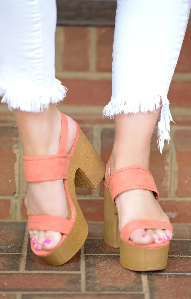 Load image into Gallery viewer, Play The Part Heels - Coral