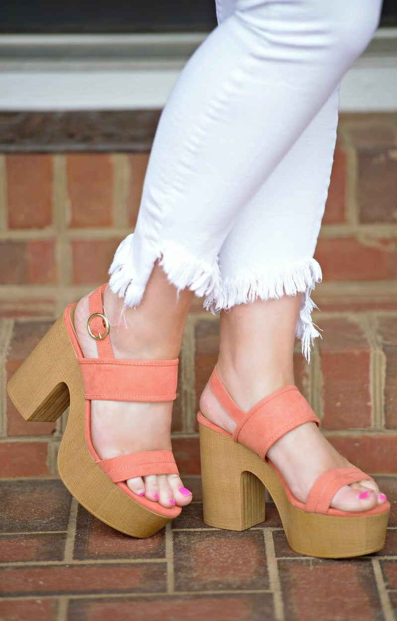 Play The Part Heels - Coral