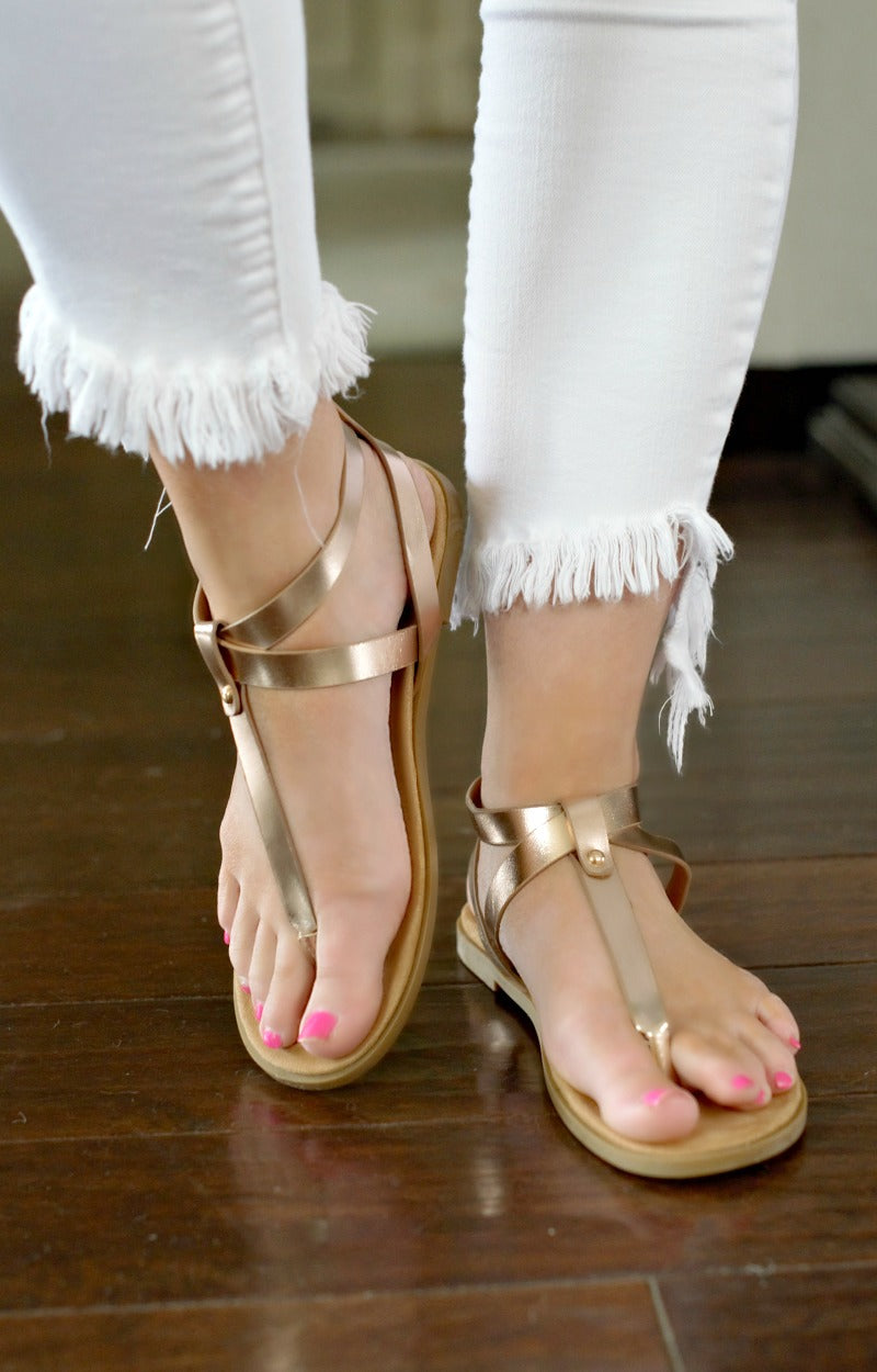 Backing It Up Sandals - Rose Gold