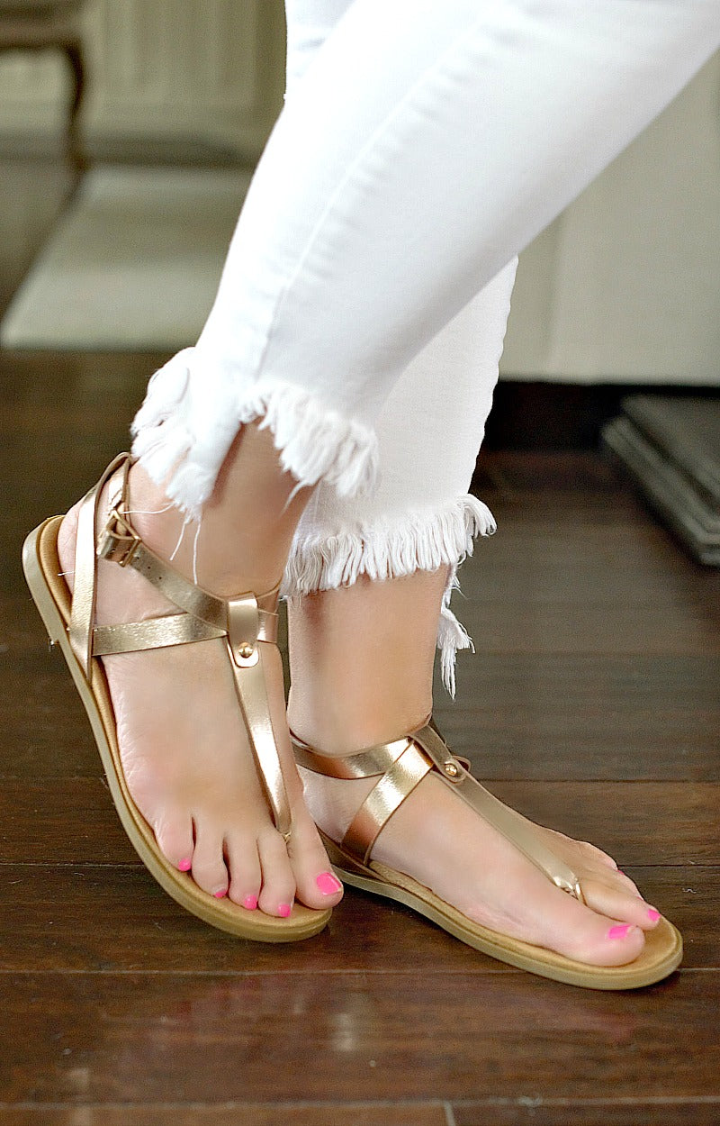 Load image into Gallery viewer, Backing It Up Sandals - Rose Gold