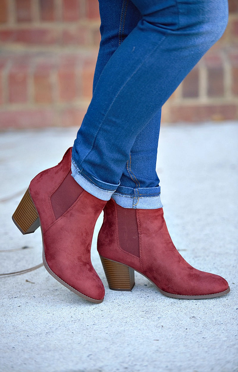 Fine By Me Booties - Rust