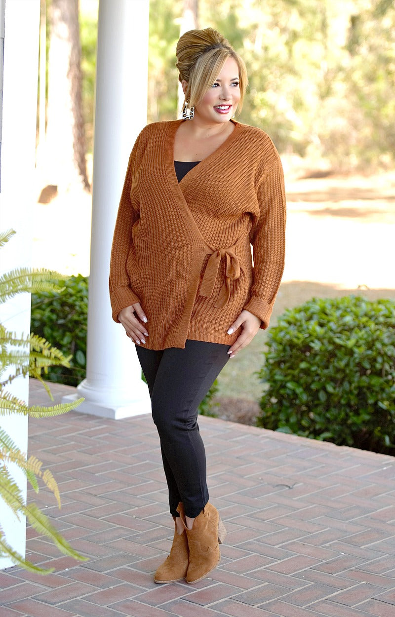 Load image into Gallery viewer, No Turning Back Cardigan - Caramel Brown
