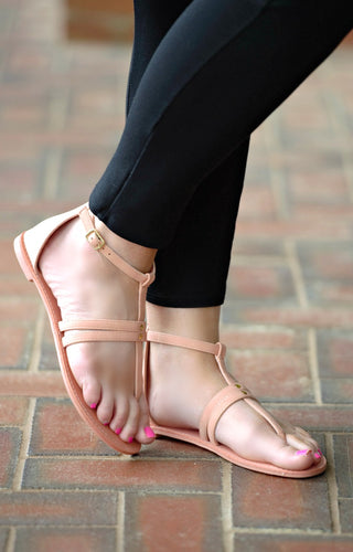 Can't Decide Gladiator Sandals - Coral