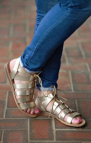 So Bold Gladiator Sandals - Gold