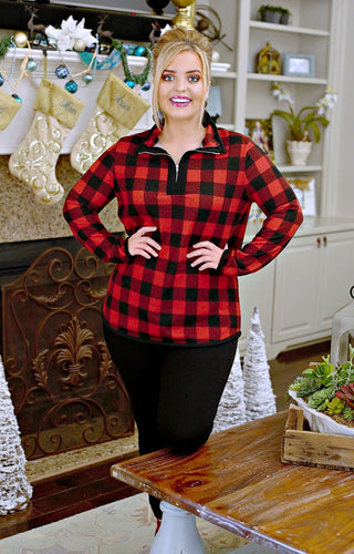 Ready For Change Buffalo Plaid Pullover