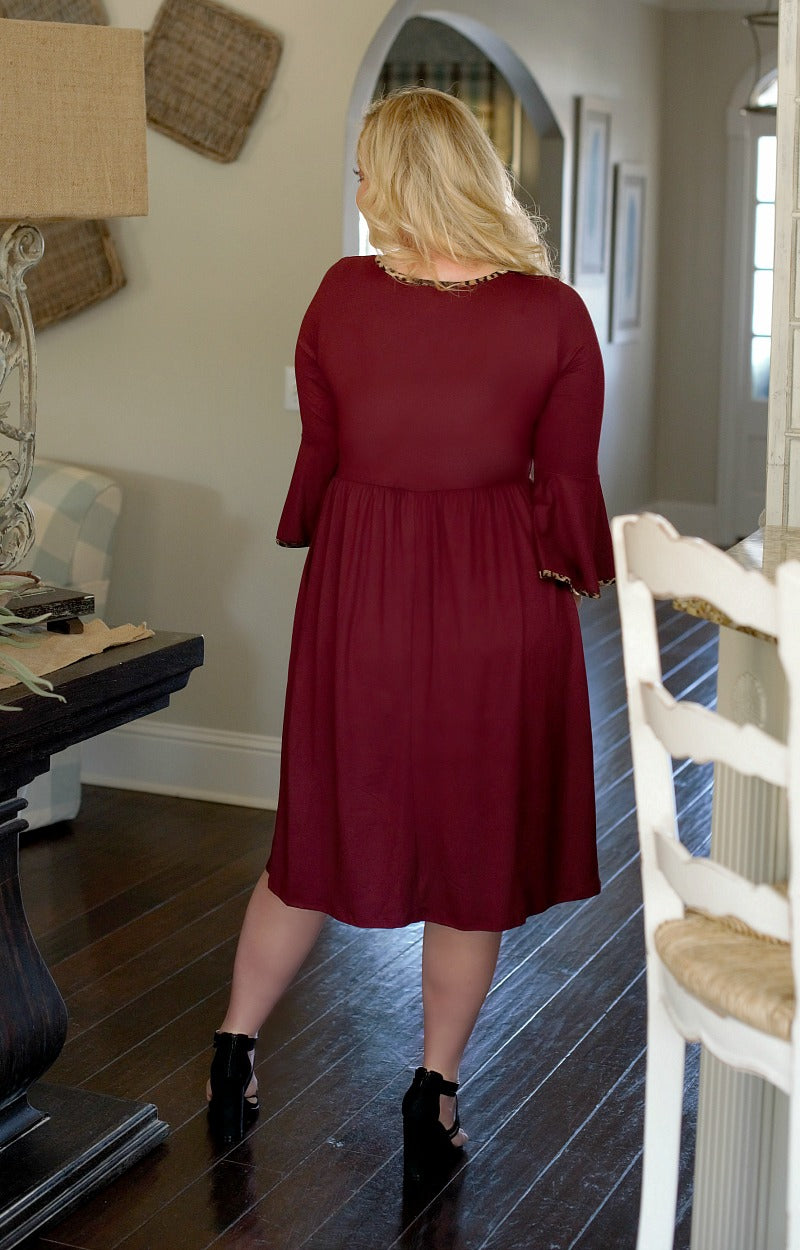 Load image into Gallery viewer, Believed In You Dress - Burgundy