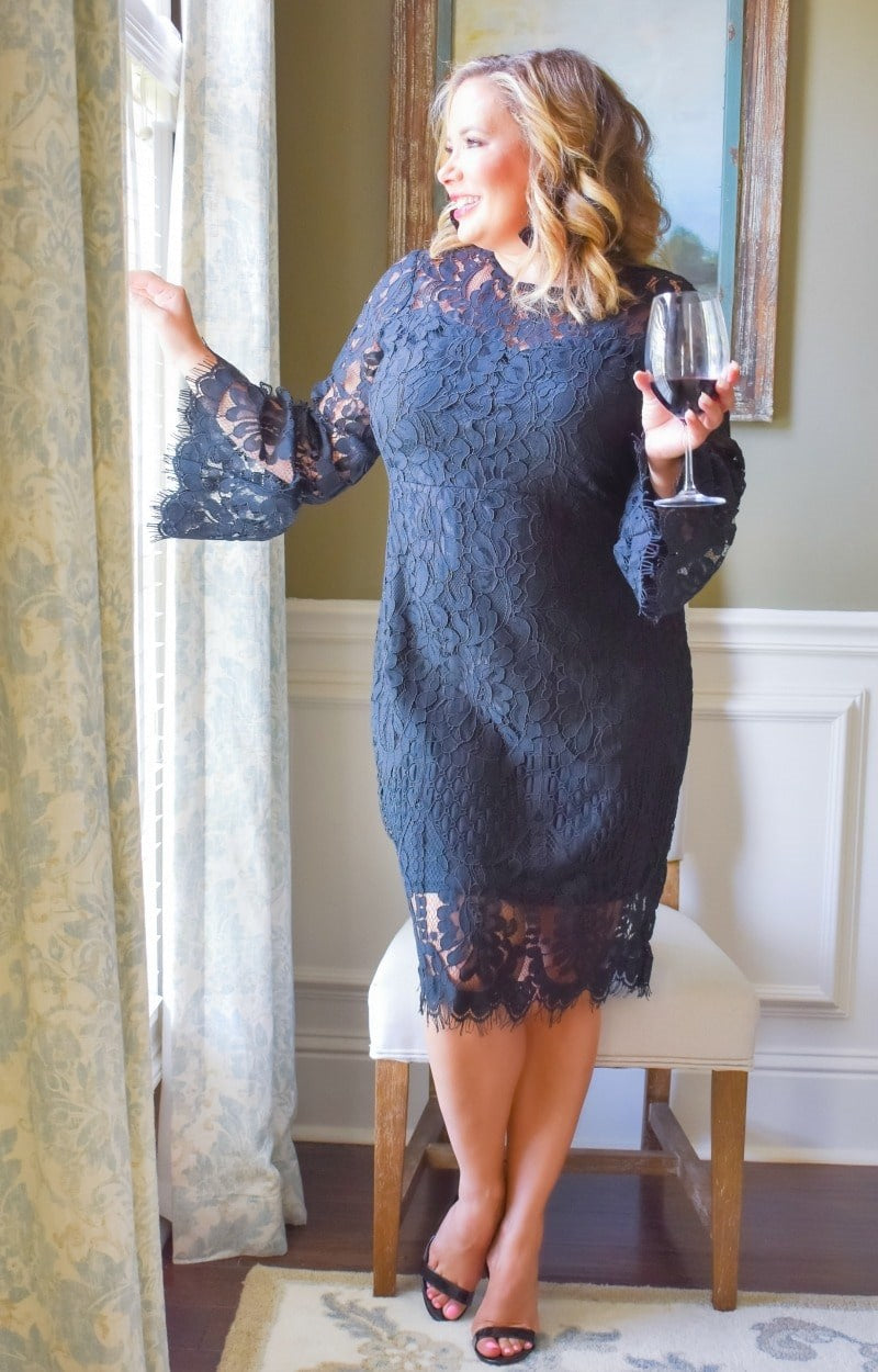 Say You Will Lace Dress - Black