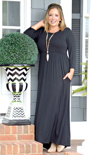 Don't Have Time Maxi Dress - Black