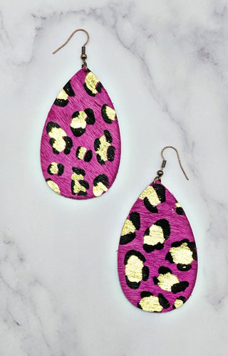 Wild Romance Earrings - Hot Pink