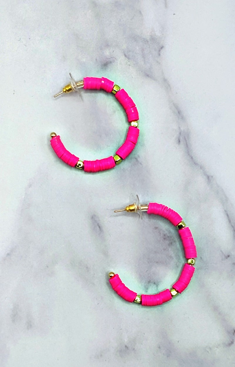 Sweet With You Earrings - Fuchsia