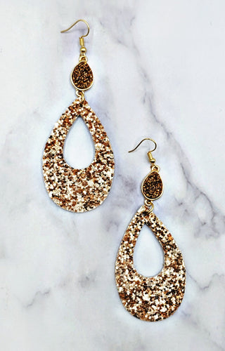 Sparkle & Shine Earrings - Rose Gold