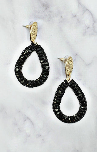 So In Style Earrings - Black