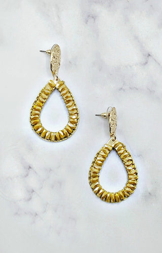 So In Style Earrings - Mustard