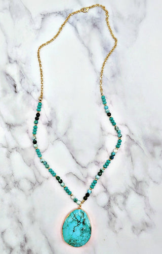 Southern Lady Necklace - Turquoise