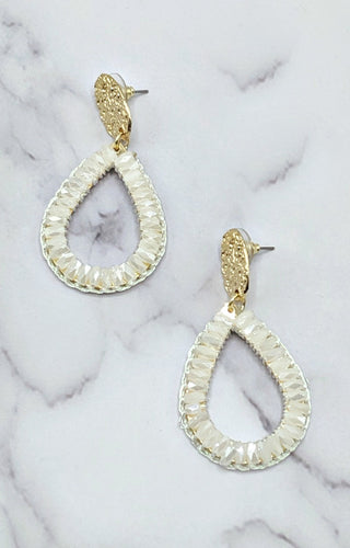 So In Style Earrings - White